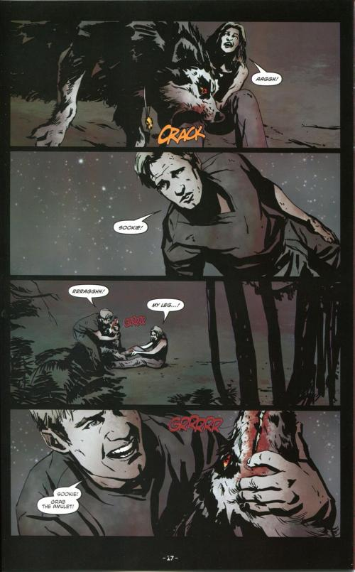 The wolf attacks Sookie (TB#8, page 17)